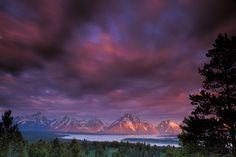 Sunrise photograph of the Teton Range from Signal Mountain in Grand Teton National Park near Jackson, Wyoming   photo by Andy Cook