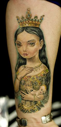 Mark Ryden tattoo by Mirek vel Stotker