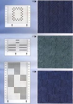 """Photo from album """"Узоры спицами"""" on Yandex. Stitch Patterns, Knitting Patterns, Crochet Patterns, Knitting Charts, Free Knitting, Knit Purl Stitches, Ribbon Design, How To Purl Knit, Crochet For Kids"""