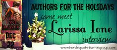 herding cats & burning soup: Interview w/ Larissa Ione--what's the weirdest thing she's Google searched? + giveaway!