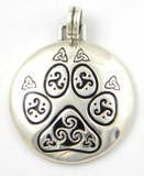 Sterling Silver Celtic KNOTWORK PAW PRINT Pendant Cat Dog - http://www.thepuppy.org/sterling-silver-celtic-knotwork-paw-print-pendant-cat-dog/