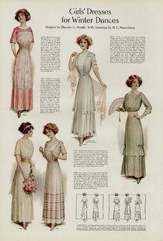 1900s Fashion, Edwardian Fashion, Vintage Fashion, Vintage Beauty, Women's Fashion, Gothic Fashion, Fashion Women, Historical Costume, Historical Clothing