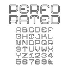 Perforated alphabet by alexoakenman on @creativework247