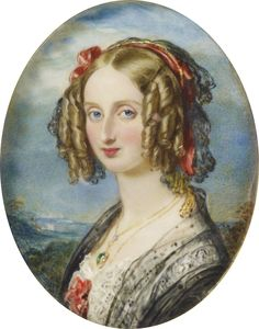 Louise Marie Therese Charlotte Isabelle of France (1812-1850), daughter of Louis Philippe I of France and Maria Amalia of Naples and Sicily. She was married to Leopold I of Belgium and they had 4 children.