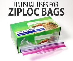 Unusual Uses Ziploc Bags