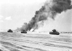 Israeli M51 Sherman tanks on Sinai