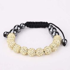 Shamballa  charm bracelet bracelets for women white beads loom bands pulseras casual diy SBB127