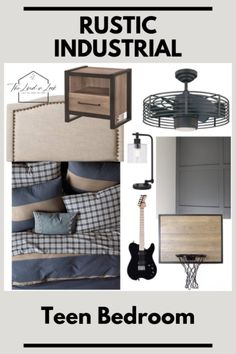 Teen Boy Bedroom Design: Inspiration For a Rustic Industrial Retreat Rustic Boys Bedrooms, Rustic Industrial Bedroom, Boys Bedroom Decor, Rustic Room, Teen Bedroom, Modern Rustic, Teen Boy Bedrooms, Preteen Boys Room, Bedroom Rustic