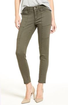 Treasure&Bond Seamed Ankle Skinny Jeans (Olive Tarmac) available at #Nordstrom