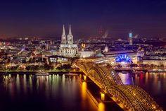 Köln bei Nacht -- Cologne, Germany at night