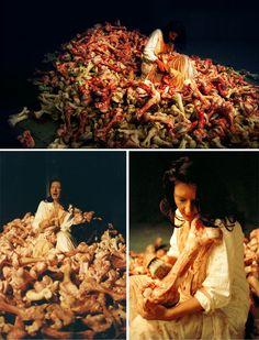 "Marina Abramovic - ""Balkan Barocque"" - Venice Biennale 2007  Art Experience NYC  www.artexperiencenyc.com"