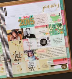 """Finally, I had a free and sunny day to take pictures of my memory planner. I've decided to call it an """"Artful Memory Planner"""" because it h. Monthly Planner, Life Planner, Happy Planner, Planner Ideas, Perfect Planner, Best Planners, Smash Book, Filofax, Stickers"""