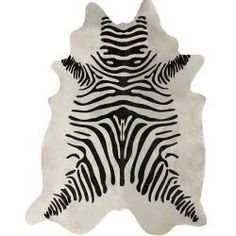 @Overstock.com - nuLOOM Hand-picked Brazilian Black / White Zebra Cowhide Rug (5' x 7') - Bring the wild into your home with this premium zebra cowhide rug. Handcrafted in South America of lush soft leather, this cowhide rug will accent up any room and give a soft, rich, plush texture to your floor, and boasts a bold contemporary style.  http://www.overstock.com/Home-Garden/nuLOOM-Hand-picked-Brazilian-Black-White-Zebra-Cowhide-Rug-5-x-7/5500463/product.html?CID=214117 $350.29