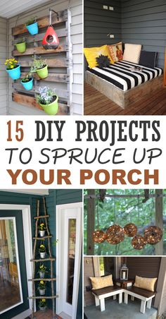 Decorate your porch with these affordable ideas and easy-to-do projects.