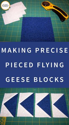 The most efficient and accurate method for quilt piecing flying geese begins with five squares. Learn the basics of piecing flying geese in this article. Quilting Tips, Quilting Tutorials, Quilting Designs, Quilting Projects, Nancy Zieman, Quilt Block Patterns, Quilt Blocks, Charm Square Quilt, Flying Geese Quilt