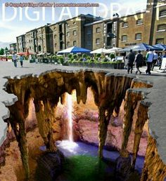3d floor art near where I live....was at Canary Wharf in the summer.