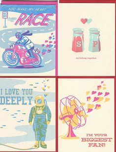 Some of our valentine's cards on Hello! magazine online - woot!!