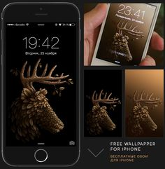 Deciduous animals. + FREE wallpapers for iphone on Behance