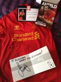 Signed top from Jamie Carragher.2013/14