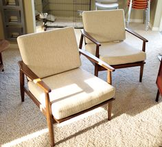 Two Viko Baumritter Mid Century Modern Chairs. Furniture Produced Under The  Baumritter Name Is An