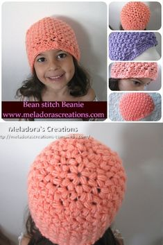Your place to learn how to Crochet the Bean Stitch Beanie for FREE. by Meladora's Creations - Free Crochet Patterns and Video Tutorials