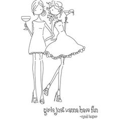 Stamping Bella Unmounted Rubber Stamp Uptown Girls Vicotria And Juliette