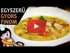 Egyszerű tárkonyos raguleves recept elkészítése videóval. A tárkonyos raguleves elkészítését, részletes menetét leírás is segíti. Cheeseburger Chowder, Curry, Food And Drink, Soup, Make It Yourself, Ethnic Recipes, Youtube, Amazing, Simple