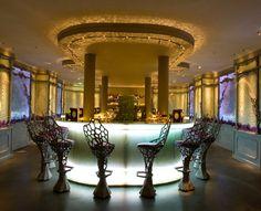 La Duree Bar on Champs Elysee! It's like a fairytale...