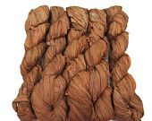 SALE New! Sari Silk Ribbon, 100g skein, Tobacco Leaf