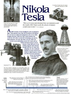 """Let the future tell the truth, and evaluate each one according to his work and accomplishments. The future, for which I have really worked, is mine."" Nikola Tesla"