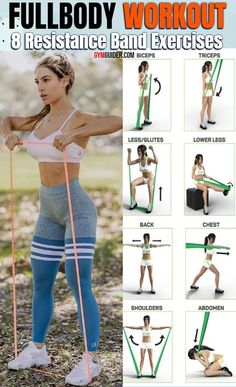 Resistance Band Training, Resistance Workout, Resistance Band Exercises, Gym Workout For Beginners, Workout Videos, Elastique Fitness Decathlon, Fitness Motivation, Fitness Tips, Travel Workout