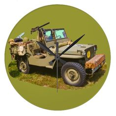 Willys World War Two Army Jeep Wall Clock