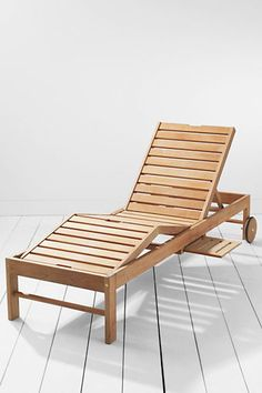 This is certainly the best – and the last - Teak Chaise you'll ever need to buy! Gloriously constructed for the ultimate in comfort with pull-out trays on both sides for your favorite snack, and a backrest that adjust to 3 positions: reading, resting and sunning! And the wheels let you easily move it to follow the sun or a cute beach hottie! ☼