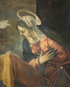 Anunciación, María, 1528-1594 - Tintoretto