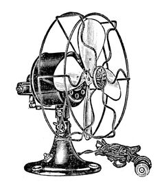 """*The Graphics Fairy LLC*: Vintage Clip Art - Electric Fans - Steampunk This would make such a darling card with this on the outside of it and the words could be """"You are so cool! Clip Art Vintage, Images Vintage, Vintage Ephemera, Steampunk Images, Electric Fan, Graphics Fairy, Art Graphique, Book Images, Digi Stamps"""