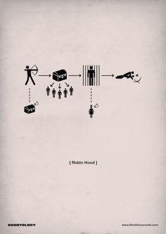 Life in Five Seconds - un resumen minimalista del cine Robin Hood