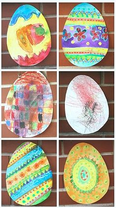 Fun Easter art project for a wide variety of ages- based on the book, Rechenka's Eggs!  (Easter Craft for Kids~ Buggy and Buddy)