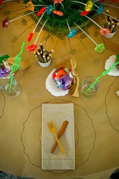 Kids place setting kids wedding table children at weddings calder clark designs