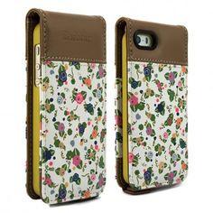 Proporta Barbour Julie Dodsworth Leather Flip Case - дизайнерски кожен флип кей за iPhone SE, iPhone 5S, iPhone 5 (цветен): •… www.Sim.bg