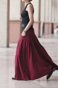 long ass skirt
