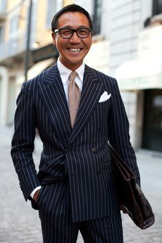 Men's street style | Pinstripe Power, Command attention in the ...