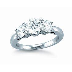 Three Stone Virtue Engagement Ring