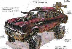 Concept Art for Mad Max From 15 Years Ago Shows How Timeless Good Ideas Are - #art #madmax #peterpound