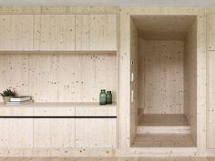 revestimento em madeira clara