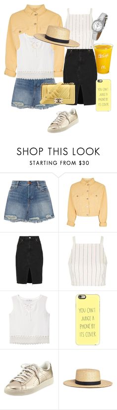 """""""Untitled #25"""" by doanthanhtra ❤ liked on Polyvore featuring J Brand, Topshop, MANGO, Casetify, Puma, Janessa Leone, Tissot and Chanel"""