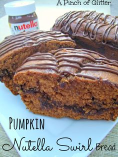 Pumpkin Nutella Swirl Bread: A Pinch of Glitter