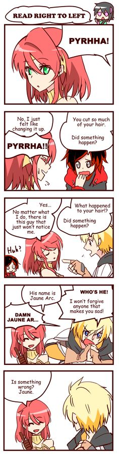 Cloudssj43 edited the English in this comic.I am always grateful to him. :DWell, it's only 9 more days to RWBY vol.3!I can hardly wait for the day!! XDSome of RWBY fans are posting count-down arts on Twitter.If you have a twitter account, check #RWBY_vol3_count_down tag!