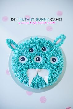 DIY Mutant Bunny Cake Decorating Tutorial by Coco Cake Land for Handmade Charlotte