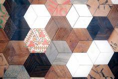 Cute floor for a casual studio, sun room or outdoor bistro space