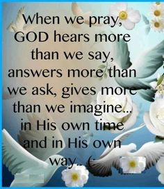 So true, god will bless us - we just need to believe!